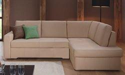 Attēls  Ādas stūra dīvāns PONO