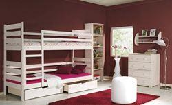 Attēls  Divstāvu koka gulta DAREK (5 krāsas)