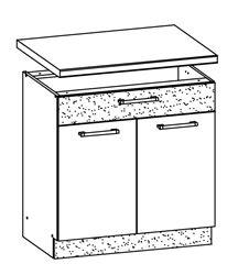 Attēls  Virtuves skapītis MODENA MD20/D80S1 (Bordo-Jasmin)