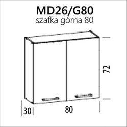 Attēls  Virtuves skapītis MODENA MD26/G80 (Trawa morska)