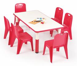 Attēls  Regulējams bērnu galds SIMBA (2 krāsas)
