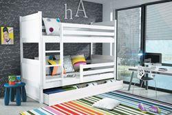 Attēls  Divstāvu gulta RICO 160 Balta (6 krāsas)