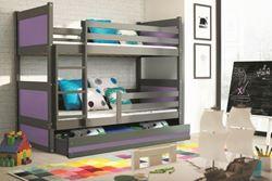 Attēls  Divstāvu gulta RICO 185 Pelēka (grafīts) (6 krāsas)