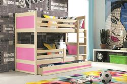 Attēls  Divstāvu gulta RICO 185 Priede (6 krāsas)