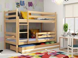 Attēls  Divstāvu gulta ERYK 190 Priede (6 krāsas)