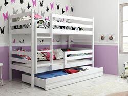 Attēls  Divstāvu gulta ERYK 190 Balta (6 krāsas)