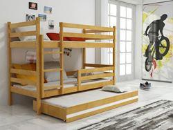 Attēls  Divstāvu trīsvietīgā gulta ERYK 3 190 Alksnis (6 krāsas)