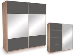 Attēls  Skapis ECO PLUS 200 ZL ST18 ar spoguli, pulēts