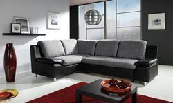 Attēls  Ādas stūra dīvāns FENDI