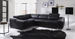 Attēls  Ādas stūra dīvāns BOSTON