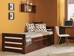 Attēls  Divvietīga koka gulta DAWID (4 krāsas)