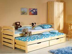Attēls  Divvietīga koka gulta TOLEK (4 krāsas)