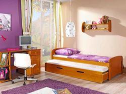 Attēls  Divvietīga koka gulta WOJTEK (4 krāsas)