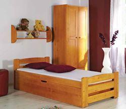 Attēls  Koka gulta LOLEK (4 krāsas)