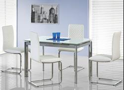 Attēls  Izvelkams galds ar stikla virsmu LAMBERT (120-180 cm)