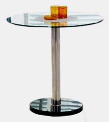 Attēls  Galds ar stikla virsmu CYRYL