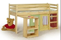 Attēls  Koka gulta ar galdu EMI