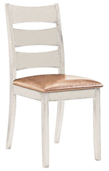Attēls  Koka krēsls BELLA (Balts)