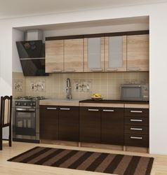 Attēls  Virtuves iekārta MILO 2-1 (Sonoma ciemna)