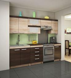 Attēls  Virtuves iekārta MILO 3-1 (Sonoma ciemna)