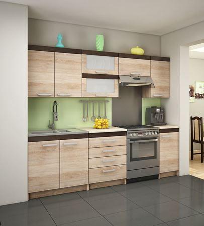 Attēls  Virtuves iekārta MILO 3-2 (Sonoma jansa)