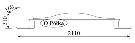 Attēls  Sienas plaukts ORFEUSZ O Polka