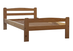 Attēls  Koka gulta LAURA 140