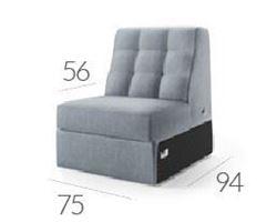 Attēls  Dīvāns CAMPARI R-5 (vienvietīgs)
