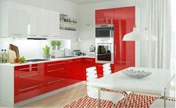 Attēls  Virtuves iekārta PLATINIUM Nr.1 (Balta, sarkana)