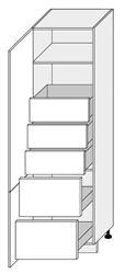 Attēls  Skapis iebūvējamai tehnikai MALMO D14/DL/60/207-5T