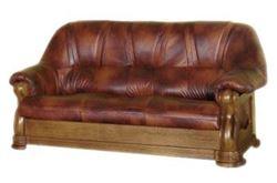 Attēls  Ādas dīvāns ELEGANT 3N