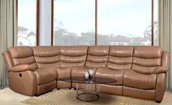 Attēls  Ādas stūra dīvāns BRUCE (L, P)