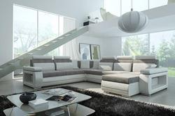 Attēls  Ādas stūra dīvāns VERSO LED C