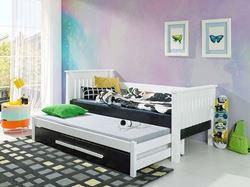 Attēls  Bērnu divvietīgā koka gulta TELMO