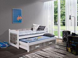 Attēls  Bērnu divvietīgā koka gulta TIAGO