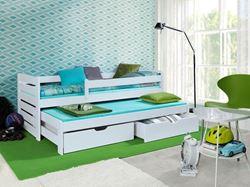 Attēls  Bērnu divvietīgā koka gulta TOMASZ II