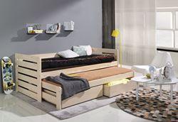 Attēls  Bērnu divvietīgā koka gulta TOMASZ