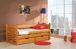 Attēls  Bērnu divvietīgā koka gulta MIKOLAJ
