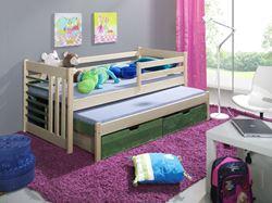 Attēls  Bērnu divvietīgā koka gulta SZYMON