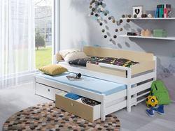 Attēls  Bērnu divvietīgā koka gulta NATU I