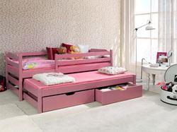 Attēls  Bērnu divvietīgā koka gulta MARCIN II