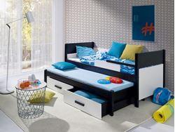 Attēls  Bērnu divvietīgā koka gulta DANILO
