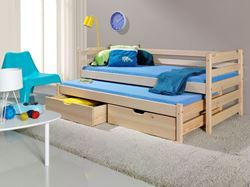 Attēls  Bērnu divvietīgā koka gulta MARCIN