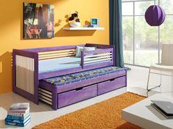 Attēls  Bērnu divvietīgā koka gulta ANATOL