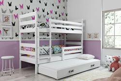 Attēls  Divstāvu trīsvietīgā gulta ERYK 3 190 Balta (6 krāsas)