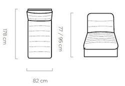 Attēls  Dīvāna daļa MODEO OTK (ar veļas kasti)