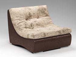 Attēls  Krēsls ARMANI SILVER mod.1 (90)(audums+āda)