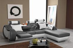 Attēls  Ādas stūra dīvāns ARIZONA A