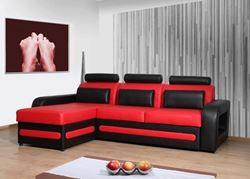 Attēls  Ādas stūra dīvāns SKIPPER A