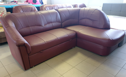 Attēls  Ādas stūra dīvāns YARDEK